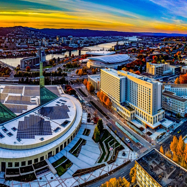 Downtown Portland, OR - Artistic Panorama