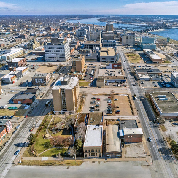 Aerial Photography - Downtown Davenport, IA
