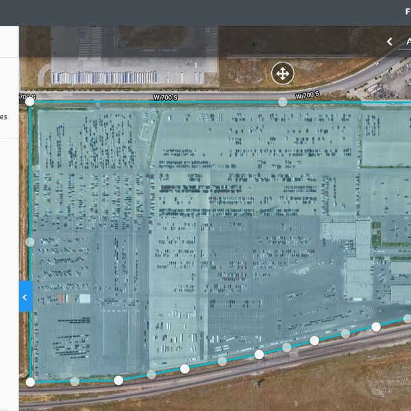 75 acres with control points in class B zero airspace. Obtained permission to fly from FAA.