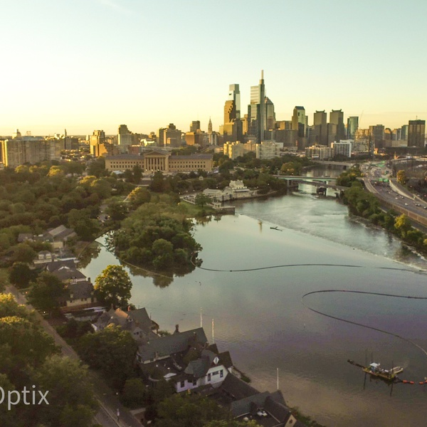 Philadelphia Skyline from Lemon Hill