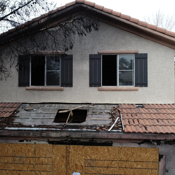 Damage assessment for property owner following a fire in a rental property