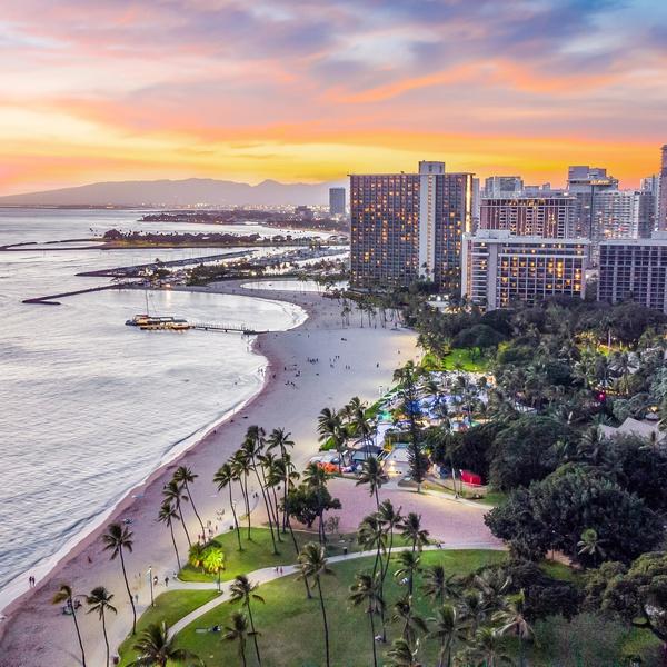 Waikiki Beach , Oahu, Hawaii
