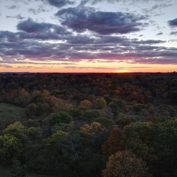 Farm sunset