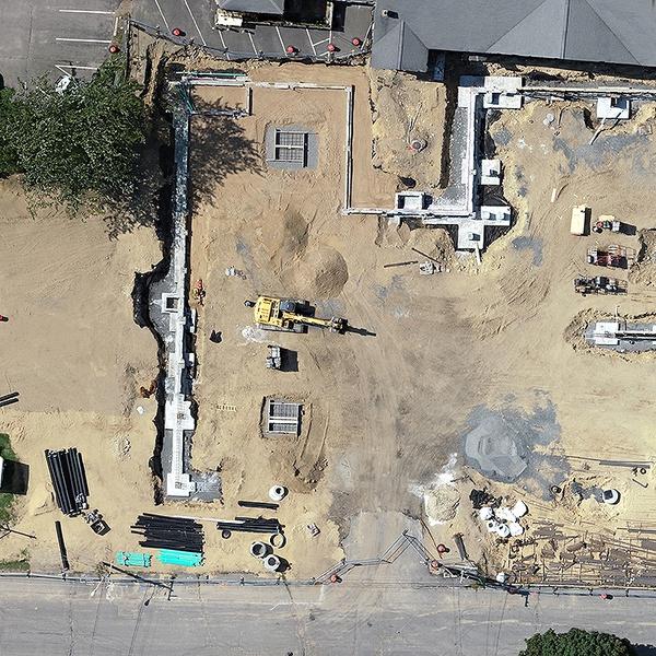 Construction site overhead.