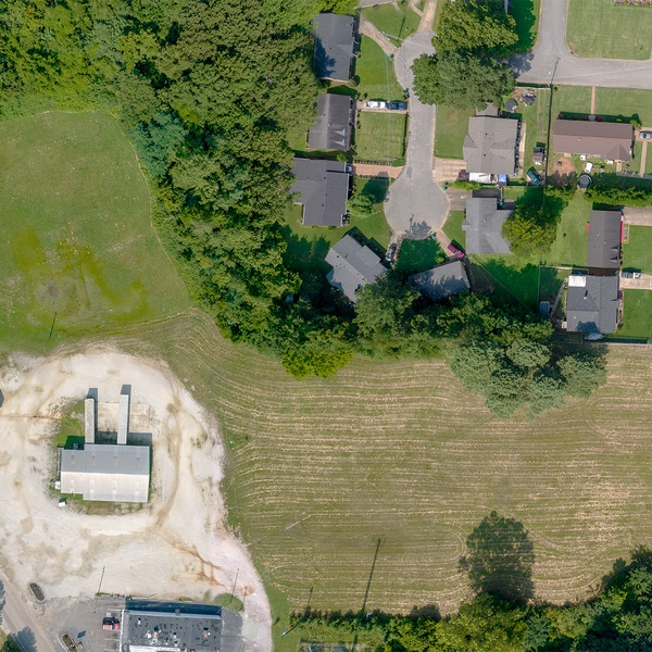 4 Photo Composite Overhead of 5 Acres from <400ft