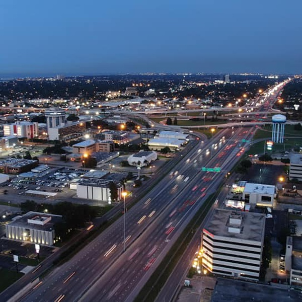 My favorite shot out of all. The I-10 and causeway area
