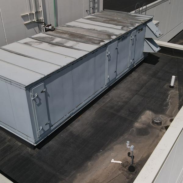Worn Rooftop Air Handling Unit
