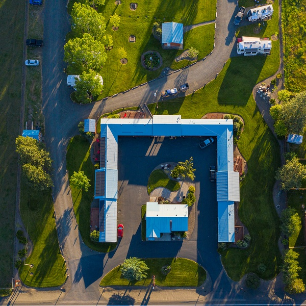 Motel aerial photography
